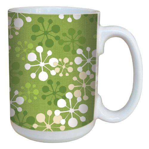 (Tree-Free Greetings 79322 Mod Snowflakes by Debbie Mumm Ceramic Mug with Full-Sized Handle, 15-Ounce )