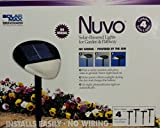 NUVO SOLAR -POWERED LIGHTS FOR GARDEN & PATHWAY, CONTAINS 4 SOLAR LIGHTS AND GROUND STAKES, INSTALLS EASILY-NO WIRING