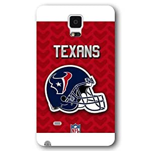 UniqueBox Customized NFL Series Case for Samsung Galaxy Note 4, NFL Team Houston Texans Logo Samsung Galaxy Note 4 Case, Only Fit for Samsung Galaxy Note 4 (White Frosted Shell)