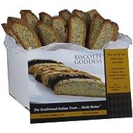 Biscotti Goddess Gluten Free Biscotti, Lemon Poppy, 1.5 oz, 12 Count