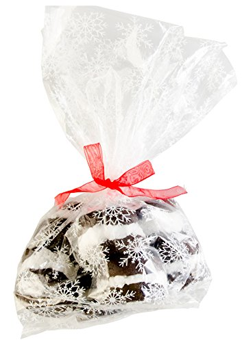 StarPack Premium Cellophane Treat Bags, Party Favor Bags, Christmas Cookie Bags - Set of 20 - Bonus 101 Cooking Tips (Large Size)