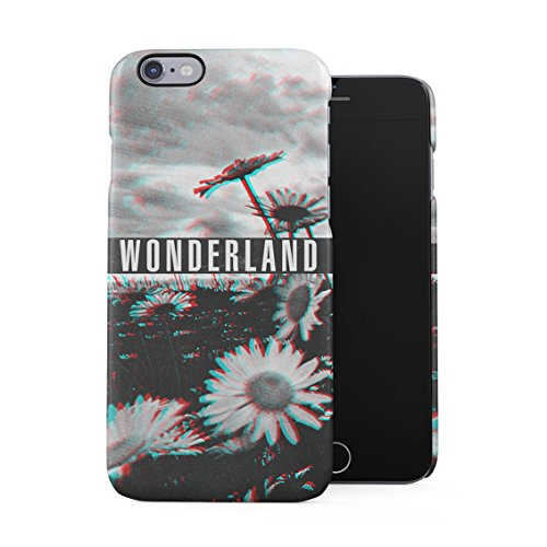 Wonderland Wildflower Daisies Flowers Grunge Flower Pattern Plastic Phone Snap On Back Case Cover Shell for iPhone 6 & iPhone -