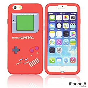 Gameboy Style Silicone Case Cover For Ipod Touch 5 Smartphone - Red