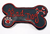 Pawsitively Gourmet 6 Inch BAD DOG Bone Cookies for Dogs, Bulk