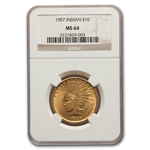 1907 $10 Indian Gold Eagle MS-64 NGC G$10 MS-64 NGC