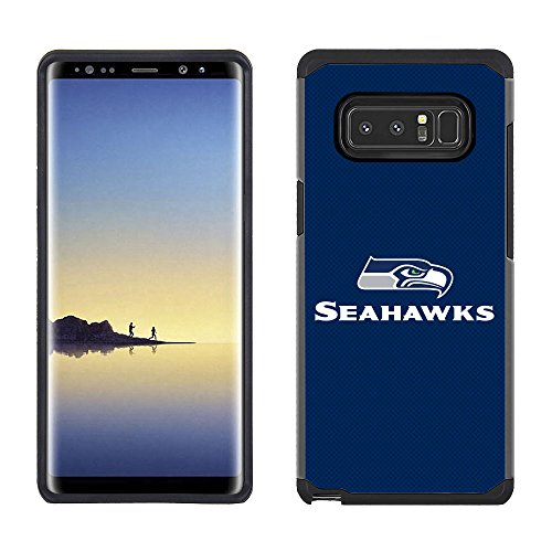 Prime Brands Group Cell Phone Case for Samsung Galaxy Note 8 - NFL Licensed Seattle Seahawks Textured Solid Color
