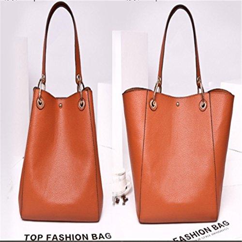 à Orange main mode Sac sac Fourre tout couleurs Dame 12 en à Shopping cuir bandoulière Dexuntong Épaule Sac tT1fn4qwxP