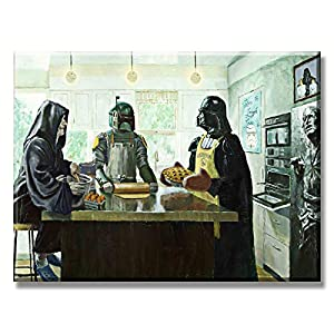 Baking Party Star Wars Canvas Art Kitchen Stormtrooper Cooking Decor Movie Poster Artwork Decoration 1 Piece Painting Prints on Livingroom Diningroom Stretched Framed Ready to Hang