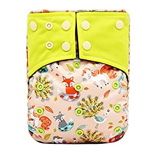 Adjustable Baby Cloth Diapers Bamboo Carbon Fiber Baby Reusable Soft Cloth Diapers for Newborn(N11)