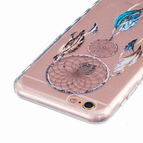 Ougger Apple iPhone 6s Plus 5.5 Custodia Case, Antigraffio Trasparente Cristallo Durevole Slim Morbido TPU Gomma Silicone Flessibile Protettivo Skin Shell Bumper Rear (Modello 14)