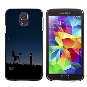 TopCaseStore / la caja del caucho duro de la cubierta de protección de la piel - deti siluety noch myach igra - Samsung Galaxy S5 SM-G900
