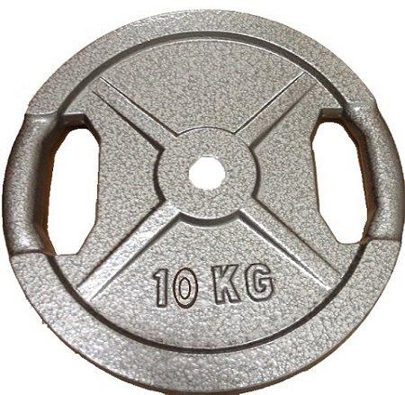 Discos de pesos para barras y mancuernas, 10 kg con empuñadura ...
