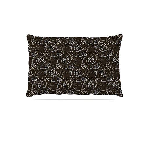 30 by 40\ KESS InHouse Mydeas Nautical Breeze-Spiral Seashells  Beige bluee Vector Dog Bed, 30  x 40