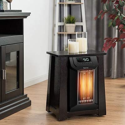 Multi-Function Electric Heater, Top Table, 1500W 12H Timer Caster Portable Electric Space Heater w/Wheel Move Easily Private Area Perfect Heating Solution Small Spaces Office, Living, Bed Room
