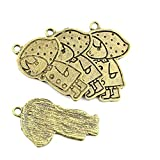 180 Pieces Jewelry Making Findings Antique Bronze Charms FL1774 Raincoat Girl Craft Lots Repair Supplies