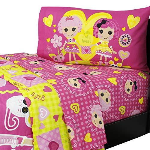 Lalaloopsy Comforter 5 Piece Reversible Twin Bedding Set with Bonus Tote Bag ()