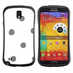 LASTONE PHONE CASE / Suave Silicona Caso Carcasa de Caucho Funda para Samsung Note 3 N9000 N9002 N9005 / Dot White Gray Minimalistic