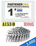 "1"" Ring A153-D HOT DIP Coil Roofing Nails 3.6M Box"