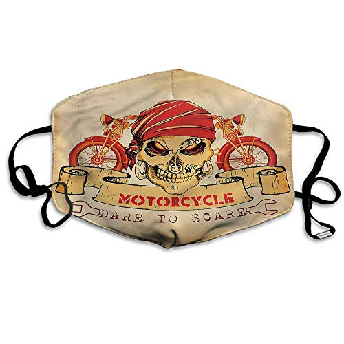 Manly Dust Mouth Mask Spooky Racer Motorcycle for Men and Women W4