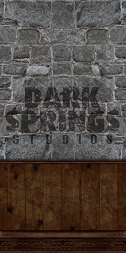 STONE WALL BACKDROP #2 for Haunted House Professional Quality Theatrical Background by Dark Springs Studios
