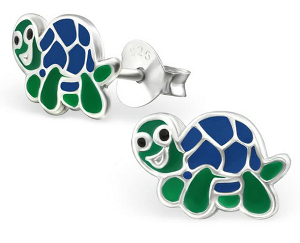 FaithOwl Turtle 925 Sterling Silver Stud Earrings