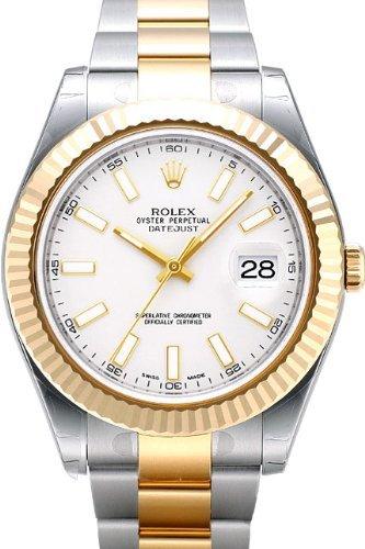 Rolex Datejust II Acero/reloj de oro amarillo, color marfil Dial de Índice: Amazon.es: Relojes