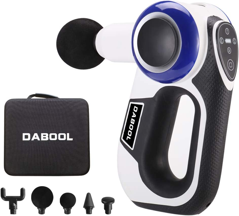 DABOOL Percussion Massage Gun Deep Tissue Muscle Massage Gun Professional Handheld Massager for Athletes Cordless Portable