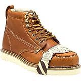 Golden Fox Steel Toe Men's Lightweight Work Boots Moc Toe Boot Insulated