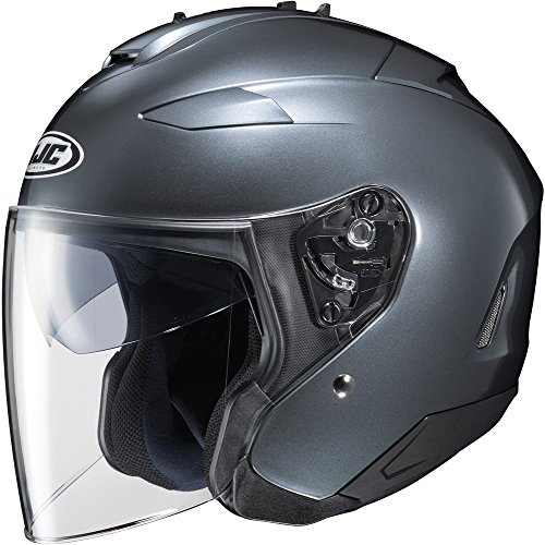 - HJC IS-33 II Open-Face Motorcycle Helmet (Anthracite, X-Large)
