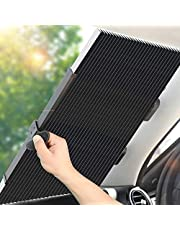 MagiqueW Car Windshield Sun Shade, Retractable Sun Shade, Easy to Install and Use - Protect Vehicle's Interior from Heat and Sunlight