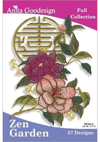 Anita Goodesign Embroidery Designs Cd ZEN Garden