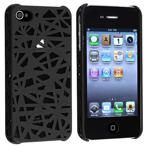 iPhone 4/4S Clip-on Case, Black Bird Nest Rear