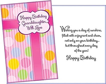 Amazon.com: Tarjeta de felicitación de cumpleaños para nieta ...