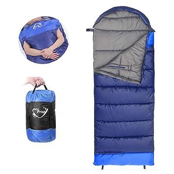Wind Tour Saco de Dormir, Ultraligera Portátil Sacos de Dormir Mano Desatada para Adultos,