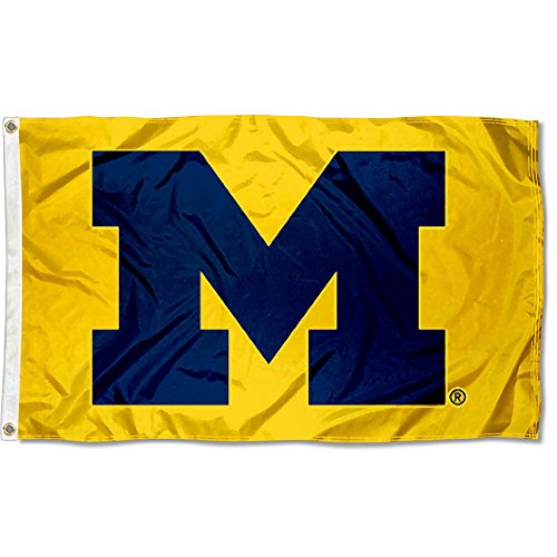 College Flags and Banners Co. Michigan Wolverines Yellow Flag