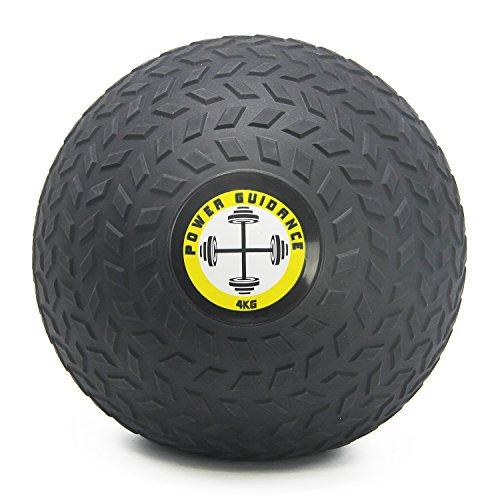 POWER GUIDANCE - Slam Ball Wall Ball Médecine Ball avec surface texturée pour une prise en main facile, et lestée en caoutchouc pour cross-training,exercices fitness, - 3, 4, 5 , 8, 10, 12, 15kg