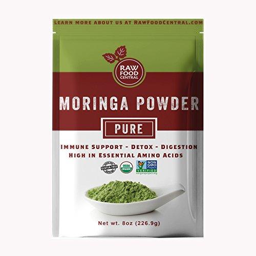 Organic Moringa Oleifera Leaf Powder - Smoothie, Detox, Non-gmo, Gluten Free by Raw Food Central