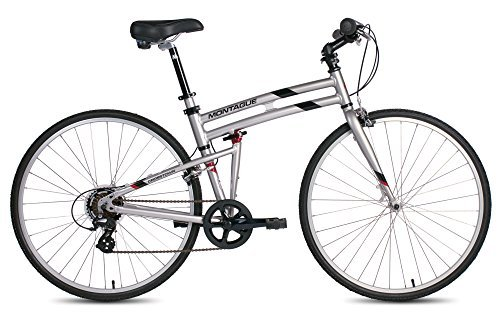 New Montague Crosstown Folding 700c Pavement Hybrid Bike Boulder Gray 19'