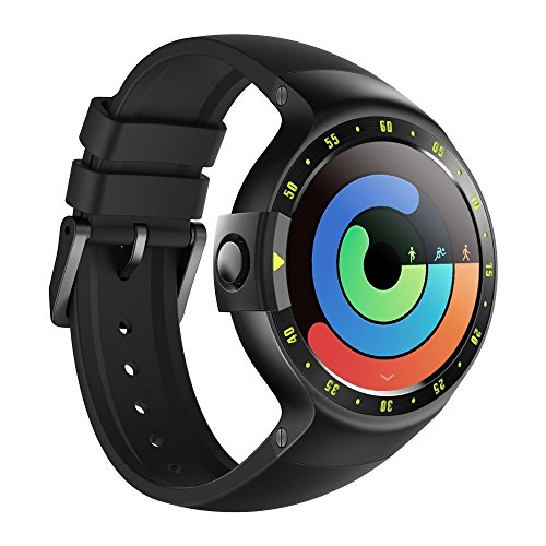Ticwatch S Smartwatch-Knight,1.4 inch OLED Display, Android Wear 2.0,Compatible with iOS and Android, Google Assistant (Renewed) (Best Android Wear 2.0 Watches)