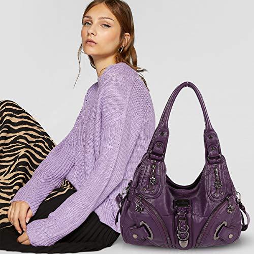 New bags Bag Handbags Hobo DORIS Shoulder NICOLE amp; Crossbody Stylish Purple Slouch Large Totes women for nxCP8Fw8