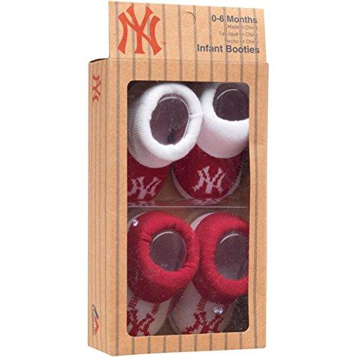 Majestic New York Yankees Baby Strickschühchen–Rot
