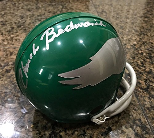 Chuck Bednarik Autographed Signed 2 Bar Tb Mini Helmet Philadelphia Eagles JSA Authentic Loa (Authentic Tb Mini Helmet)