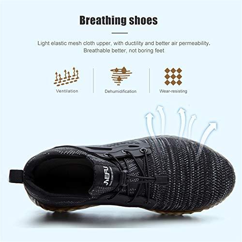 Chaussure de Securité Homme Femme Bottes Travail Chantiers Industrie Sneakers Protection Embout en Acier Basket de… 6