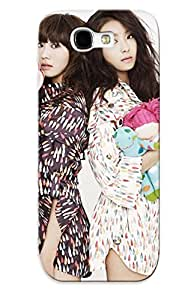 Christmas Gift - Tpu Case Cover For Galaxy Note 2 Strong Protect Case - Hyolin And Yoon Bora Sistar Design