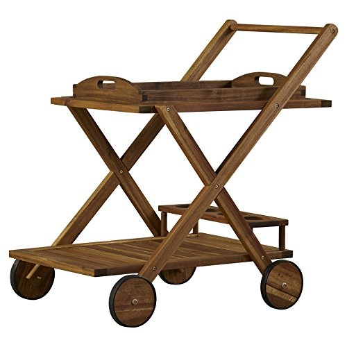 Beachcrest Home Deer Island Serving Cart, Bar Serving Cart, Distressed by Beachcrest Home (Image #9)