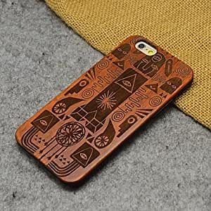 QYF Wood Ancient Egyptian Carving Pharaoh of Egypt Concavo Convex Hard Back Cover for iPhone 6