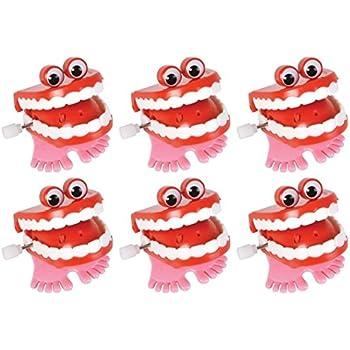 Amazon Com Toysmith Chattering Teeth Toys Games