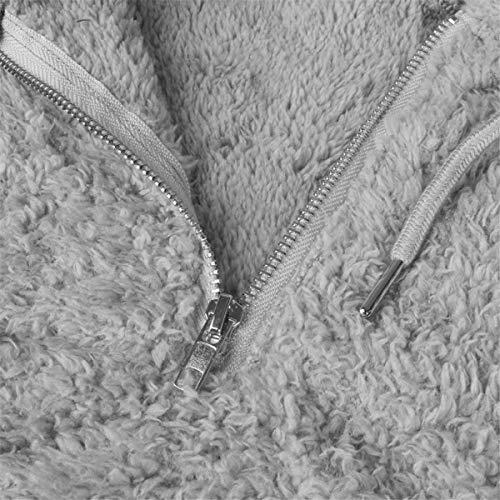 Chaud Capuche Hiver Pour Mode Velours Zipper Mince Femmes Ou Unie Couleur Laine Décontracté Lâche Dames À Sweat Femmes Épaissie Manches Manteau De Doux Sweats Neige Veste Gris Longues 50y7wOPqKE