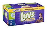 Health & Personal Care : Luvs Diapers Ultra Leakguards With Night Lock Size 4 22-37 lb Big Value - 88 CT by Luvs