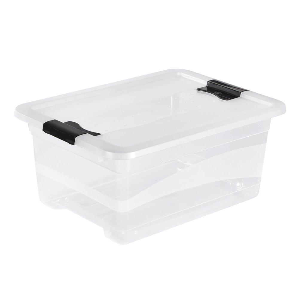 OKT Contenitore Trasparente Multiuso con Il Coperchio Crystal Box Capienza 12Lt 10941001000